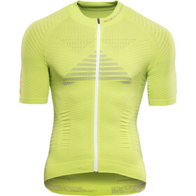 X-Bionic Effektor Power Fahrrad Trikot SS Full-Zip Herren green lime/pearl grey